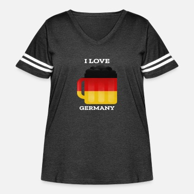 Germany germany germanI Love Germany - Women's Curvy Vintage Sport T-Shirt