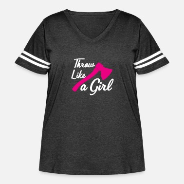 Proud Throw Like A Girl - Womans Funny Axe Throwing Gift - Women's Curvy Vintage Sport T-Shirt