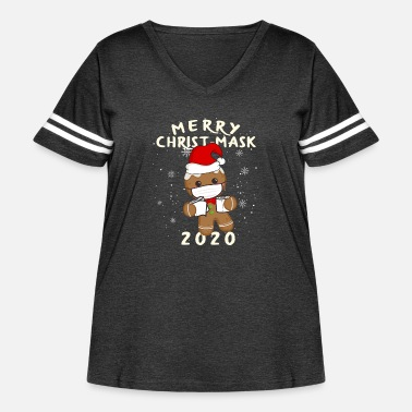 Merry Merry Christ-mask christmas outfit women Family - Women's Curvy Vintage Sport T-Shirt