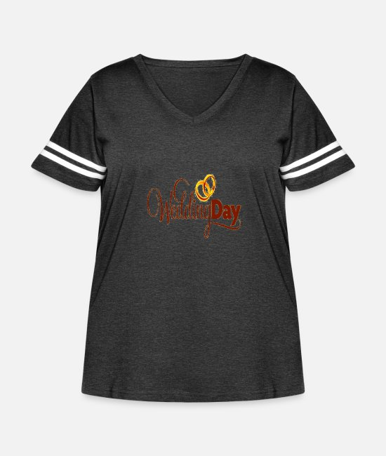 Wedding Dress T-Shirts - Wedding Day - Women's Curvy Vintage Sport T-Shirt vintage smoke/white