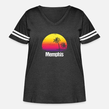 Vacation Tennessee Summer Vacation Memphis Shirts - Women's Curvy Vintage Sport T-Shirt