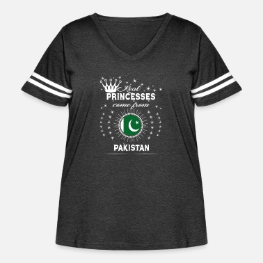 Pakistan queen love princesses PAKISTAN - Women's Curvy Vintage Sport T-Shirt
