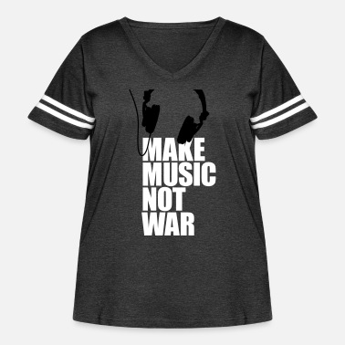 Make Music Make music not war - Women's Curvy Vintage Sport T-Shirt