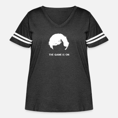 The Game Is On - Sherlock - Women's Curvy Vintage Sport T-Shirt