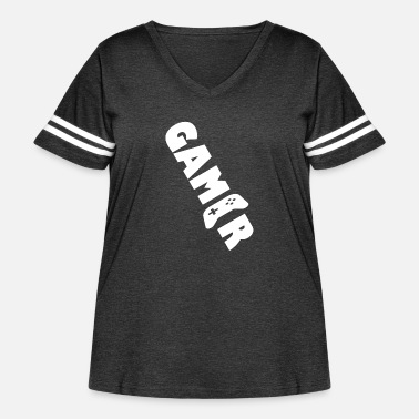Gamers Gamer gamers - Women's Curvy Vintage Sport T-Shirt
