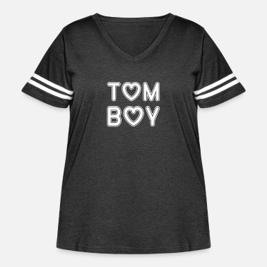 Uk Tomboy Clothes Design for Women Teen Girls - Women's Curvy Vintage Sport T-Shirt