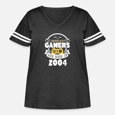 December Legendary Gamers Are Born In 2004 - Women's Curvy Vintage Sport T-Shirt