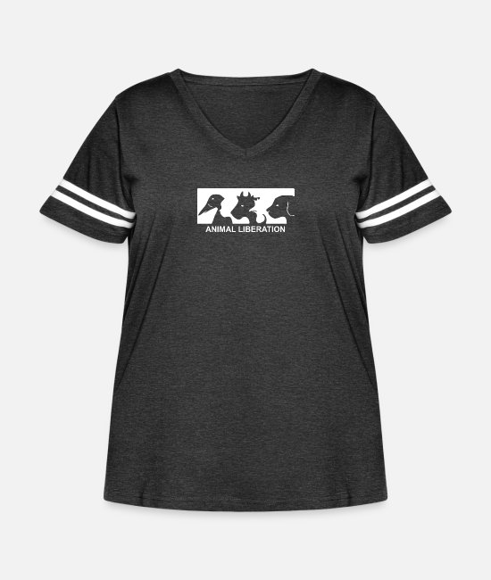 Animal Rights Activists T-Shirts - Animal Liberation - Women's Curvy Vintage Sport T-Shirt vintage smoke/white