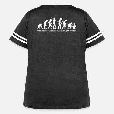 Darwin Darwin's Human Evolution From Ape To Digital Man. - Women's Curvy Vintage Sport T-Shirt
