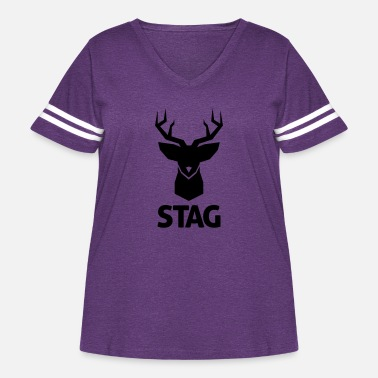 Stag stag - Women's Curvy Vintage Sport T-Shirt