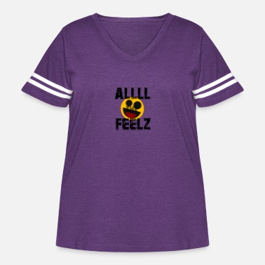 All the Feelz - Women's Curvy Vintage Sport T-Shirt