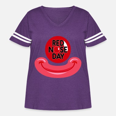 Red Nose Red Nose Day - Women's Curvy Vintage Sport T-Shirt