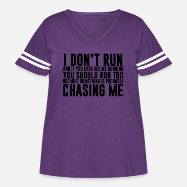 Funny I don't run funny quote - Women's Curvy Vintage Sport T-Shirt