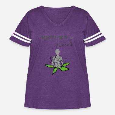 Return to yourself Namaste - Women's Curvy Vintage Sport T-Shirt