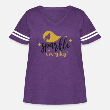 Sparkle SPARKLE EVERY DAY - Women's Curvy Vintage Sport T-Shirt
