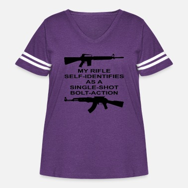Bolt-action Rifles My Rifle Self Identifies As A Single Shot Bolt Act - Women's Curvy Vintage Sport T-Shirt