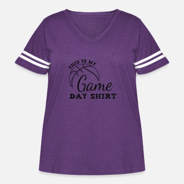 Warmup basketball game day shirt - Women's Curvy Vintage Sport T-Shirt