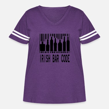 Irish Bar Irish bar code 1 - Women's Curvy Vintage Sport T-Shirt