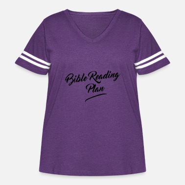 Christ Jesus Bible Reading Plan - Women's Curvy Vintage Sport T-Shirt