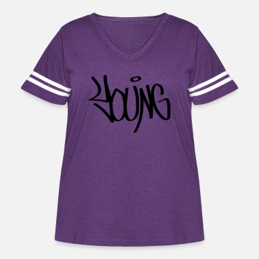 Young young - Women's Curvy Vintage Sport T-Shirt