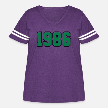 Year Of Birth 1986 | Year of Birth | Birth Year | Birthday - Women's Curvy Vintage Sport T-Shirt