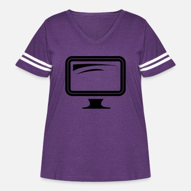 Monitoring monitor - Women's Curvy Vintage Sport T-Shirt