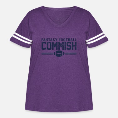 Commish Fantasy Football Commish - Women's Curvy Vintage Sport T-Shirt