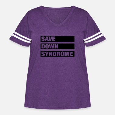 Save Down Syndrome - Women's Curvy Vintage Sport T-Shirt