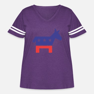 Democratic Party Democratic Party - Women's Curvy Vintage Sport T-Shirt