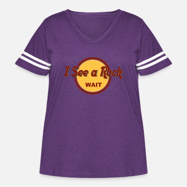Wait Wait I see a Rock Geology shirt - Women's Curvy Vintage Sport T-Shirt