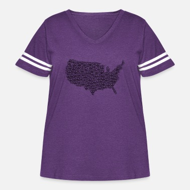 Disarmament us map made up using the symbol of peace tshirt - Women's Curvy Vintage Sport T-Shirt