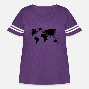 Map world - Women's Curvy Vintage Sport T-Shirt