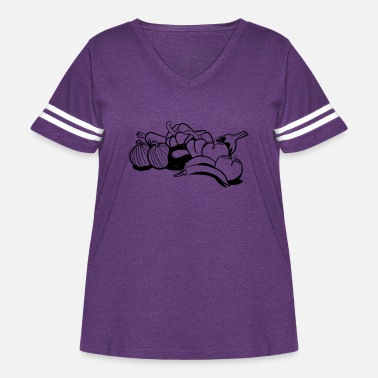 Vegetables vegetables - Women's Curvy Vintage Sport T-Shirt