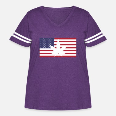 Mary Jane Cannabis flag USA - Women's Curvy Vintage Sport T-Shirt