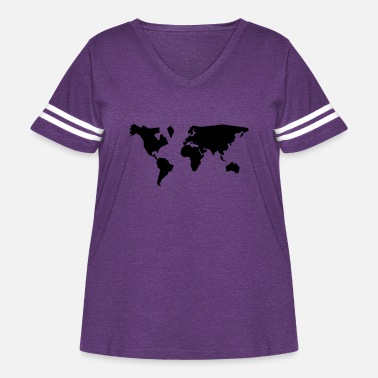 Geographic geographic - Women's Curvy Vintage Sport T-Shirt