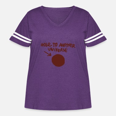 Strange Hole to Another Universe - Women's Curvy Vintage Sport T-Shirt