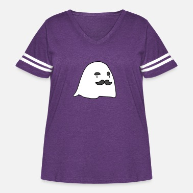 Cool-cute-stylish-mustaches Herbert The Ghost - Women's Curvy Vintage Sport T-Shirt