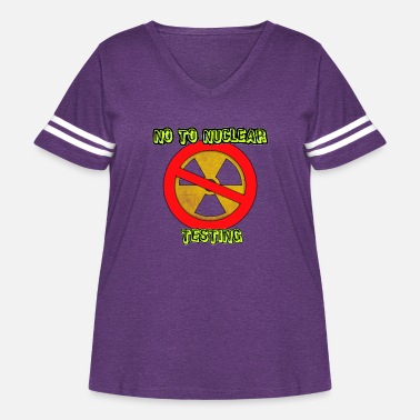 Nuclear No to Nuclear Testing - Women's Curvy Vintage Sport T-Shirt
