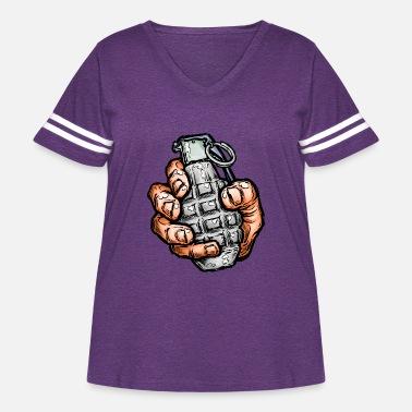 Hand Grenade T Shirt Military Army Printed Cotton Retro Bomb Black Men/'s Tee