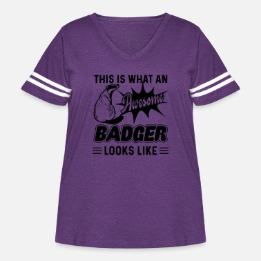 Badger Awesome Badger Looks Like Shirt - Women's Curvy Vintage Sport T-Shirt