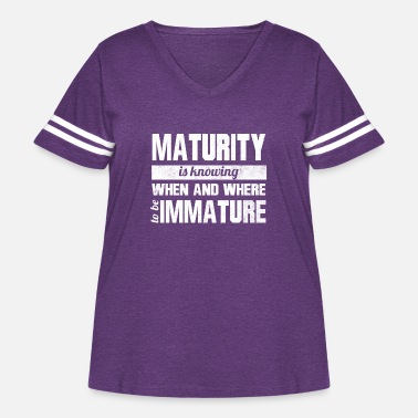 Mature Maturity - Women's Curvy Vintage Sport T-Shirt