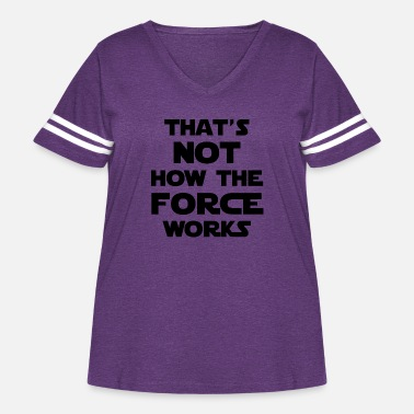 The Force force - Women's Curvy Vintage Sport T-Shirt
