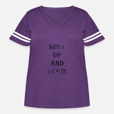 Shut up and train - Women's Curvy Vintage Sport T-Shirt