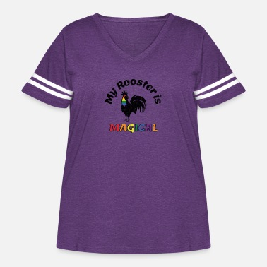 Communism Gay Pride Parade Magical Rooster Funny LGBTQ - Women's Curvy Vintage Sport T-Shirt