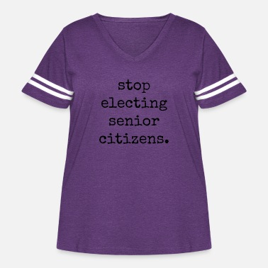 STOP ELECTING SENIOR CITIZENS - Women's Curvy Vintage Sport T-Shirt