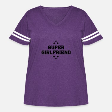 Romantic Joke Darling Super Girlfriend - Love - Women's Curvy Vintage Sport T-Shirt