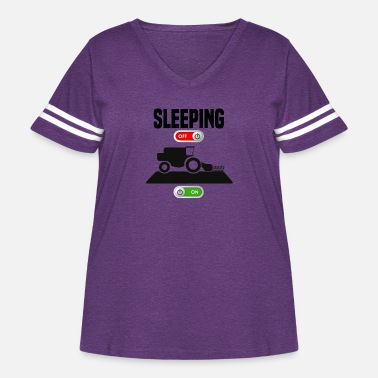 Combine Sleeping OFF Farmer combine harvester ON gift - Women's Curvy Vintage Sport T-Shirt