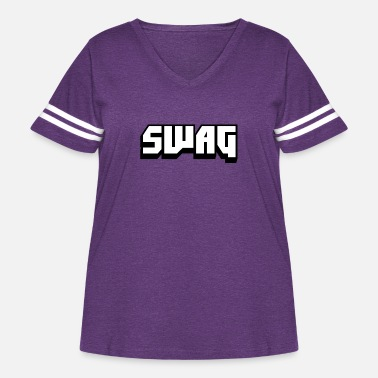 Swag SWAG - Women's Curvy Vintage Sport T-Shirt