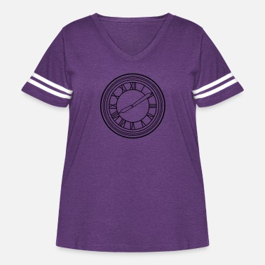 Town Hall Town Hall Clock ticking the time - Women's Curvy Vintage Sport T-Shirt