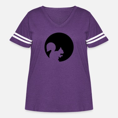 Squirrel Squirrel - Women's Curvy Vintage Sport T-Shirt
